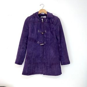 Vintage Bradley Bayou Suede Purple TrenchSize XS
